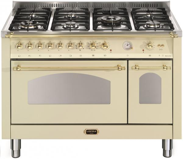 LOFRA - DOLCEVITA - DOUBLE OVEN 120 cm - RBID 126 MFT+E/ 2AEO - Ivory - Messing Finish