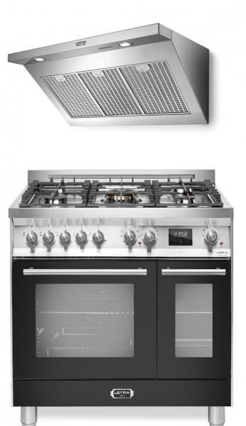 LOFRA - VENEZIA Komplett-Set Range Cooker 90 cm breit und Elisir Dunstabzugshaube
