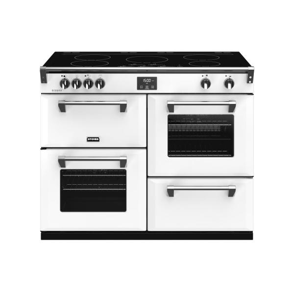 STOVES RICHMOND Deluxe S1100 Ei Induktion Icy White/Chrom