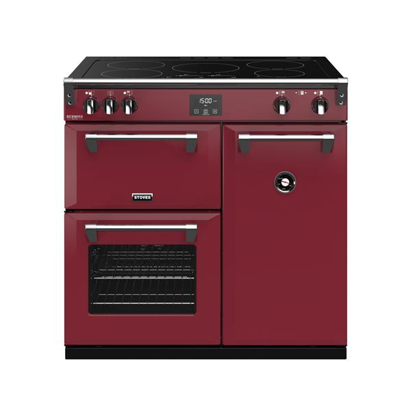 STOVES RICHMOND Deluxe S900 Ei Induktion Chili Red/Chrom