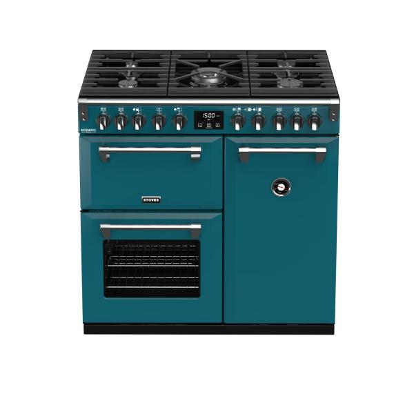 STOVES RICHMOND Deluxe S900 DF GAS CB Kingfisher Teal/Chrom