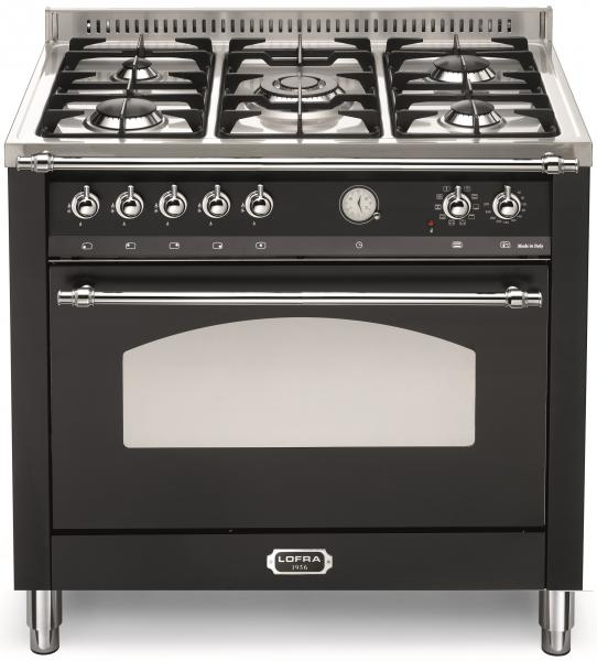 LOFRA - DOLCEVITA - SINGLE OVEN 90 cm - RNMG 96 MFT / CI - Black- Chrome Finish