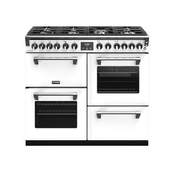 STOVES RICHMOND Deluxe S1000 DF Gas Icy White/Chrom