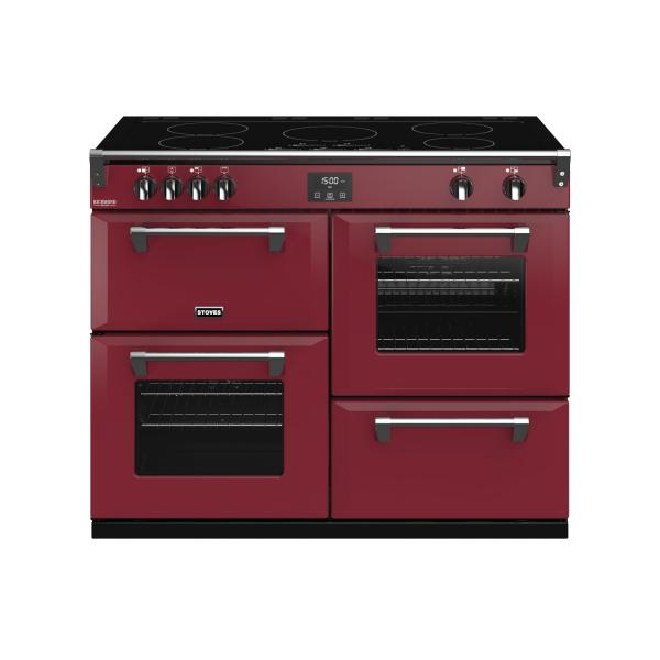 STOVES RICHMOND Deluxe S1100 Ei Induktion Chili Red/Chrom