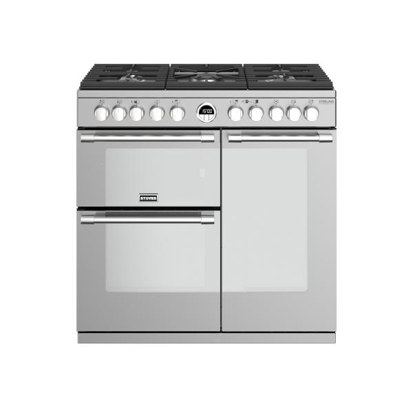 STOVES STERLING Deluxe S900 Edelstahl Gas