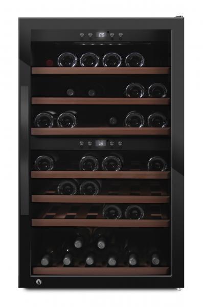 mQuvée Weinkühlgerät WineExpert 66 Fullglass Black