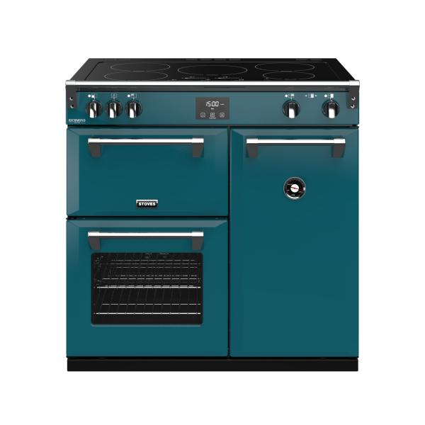 STOVES RICHMOND Deluxe S900 Ei Induktion Kingfisher Teal/Chrom