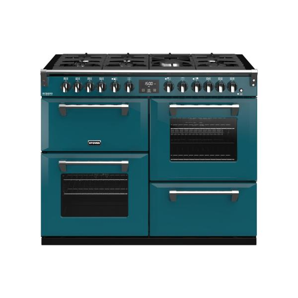 STOVES RICHMOND Deluxe S1100 DF Gas Kingfisher Teal/Chrom
