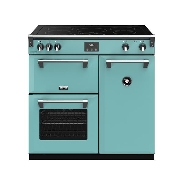STOVES RICHMOND Deluxe S900 Ei Induktion Country Blue/Chrom