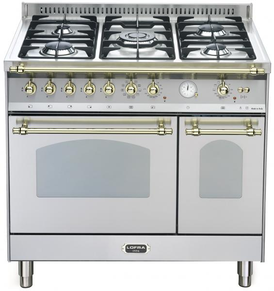 LOFRA - DOLCEVITA - DOUBLE OVEN 90 cm - RSD 96 MFTE/ CI - STAINLESS STEEL - Messing Finish