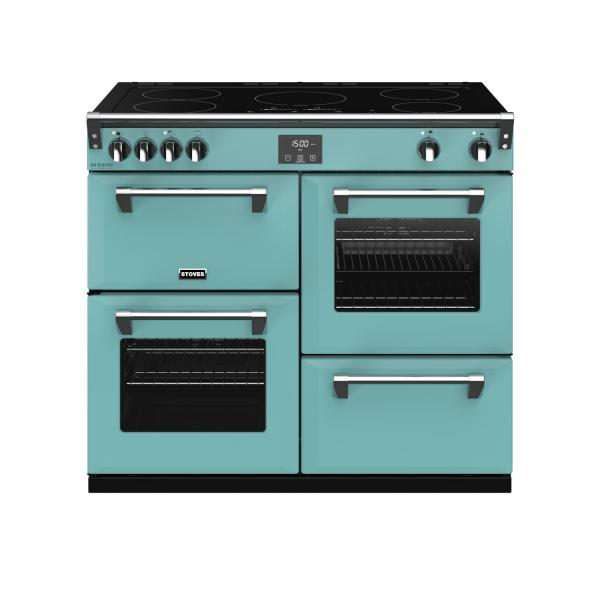STOVES RICHMOND Deluxe S1000 Ei Induktion Country Blue/Chrom
