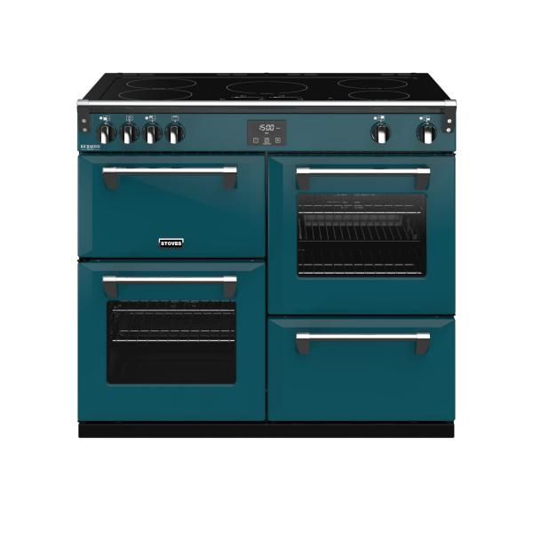 STOVES RICHMOND Deluxe S1000 Ei Induktion Kingfisher Teal/Chrom