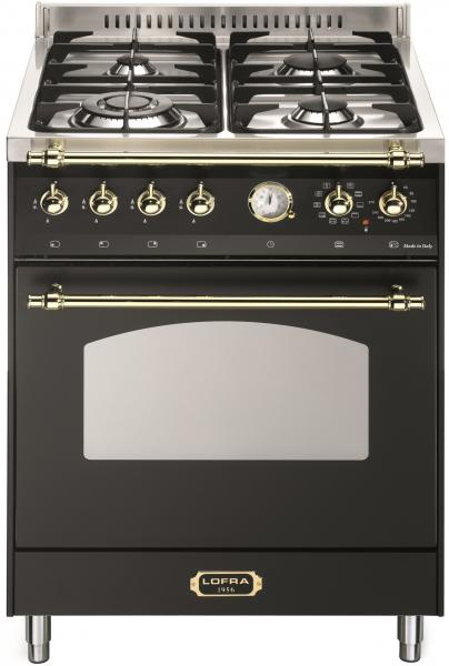 LOFRA - DOLCEVITA - SINGLE OVEN 60 cm - RNM 66 MFT/ CI - Black - Messing Finish