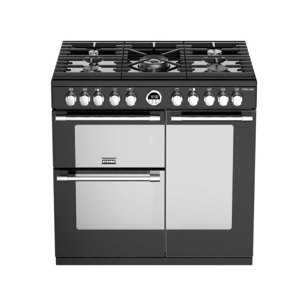 STOVES STERLING S900 Schwarz Gas