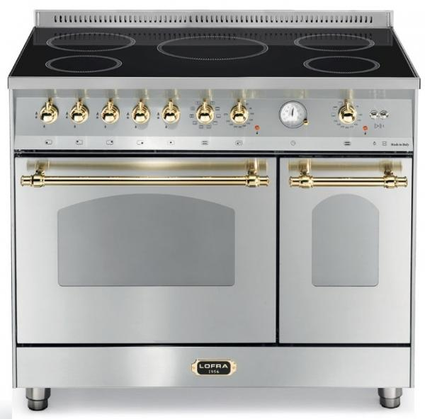 LOFRA - DOLCEVITA INDUKTION - DOUBLE OVEN 90 cm - RSD 96 MFTE/ 5I - STAINLESS STEEL Messing Finish