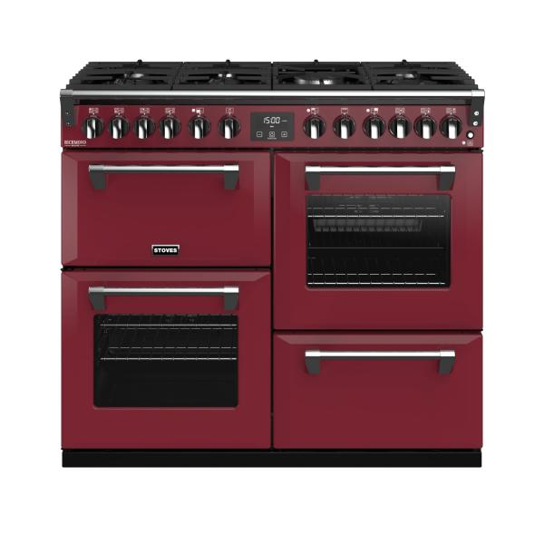 STOVES RICHMOND Deluxe S1000 DF Gas Chili Red/Chrom