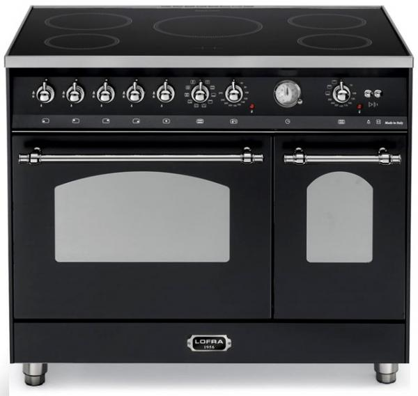 LOFRA - DOLCEVITA INDUKTION - DOUBLE OVEN 90cm - RNMD 96 MFTE/ 5IF - Black - Chrome Finish