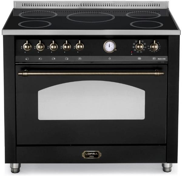 LOFRA - DOLCEVITA - INDUKTION 90 CM - SINGLE OVEN - RNMG 96 MFT / 5I Black - Bronze Finish