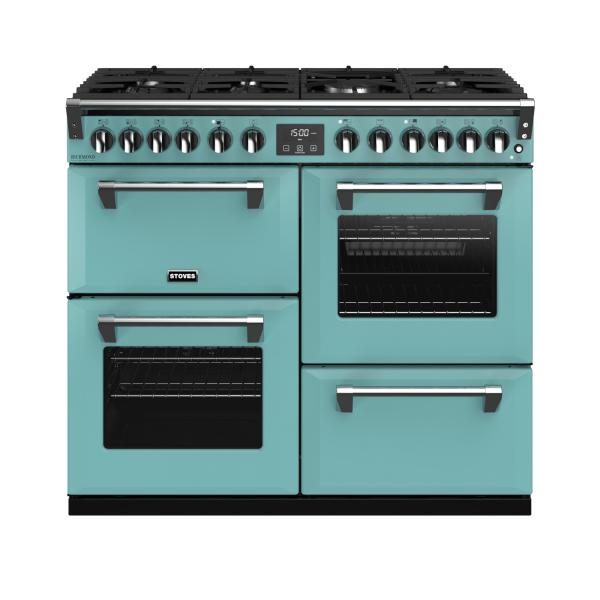 STOVES RICHMOND Deluxe S1000 DF Gas Country Blue/Chrom