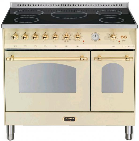 LOFRA - DOLCEVITA INDUKTION - DOUBLE OVEN 90 cm - RBID 96 MFTE/ 5I - Ivory Messing Finish