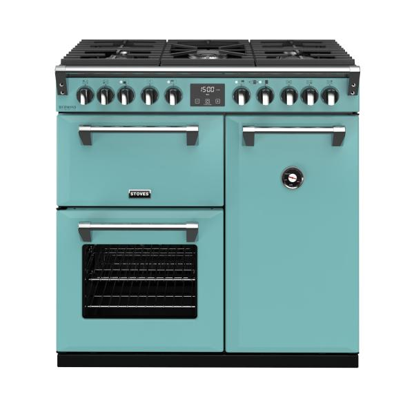 STOVES RICHMOND Deluxe S900 DF GAS CB Country Blue/Chrom