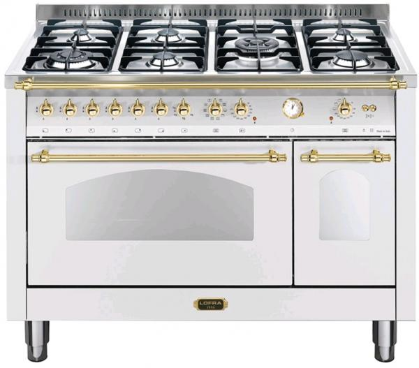 LOFRA - DOLCEVITA - DOUBLE OVEN 120 cm - RBPD 126 MFT+E/ 2AEO - White - Messing Finish