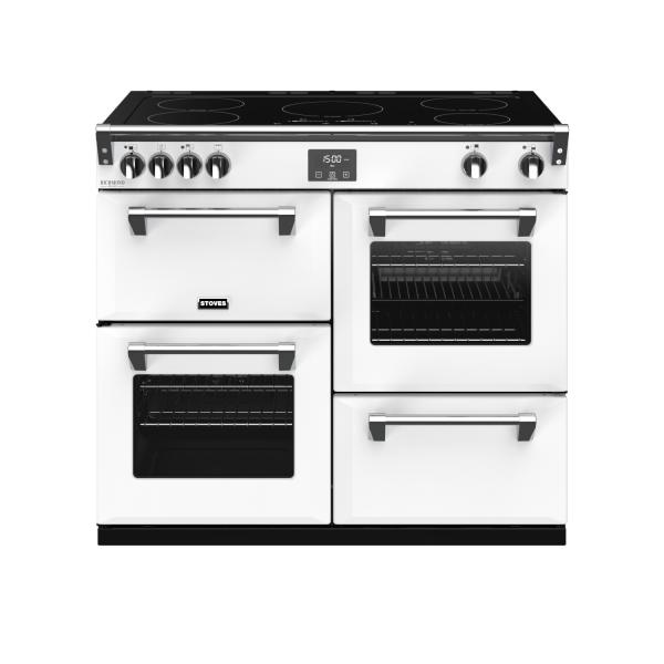 STOVES RICHMOND Deluxe S1000 Ei Induktion Icy White/Chrom