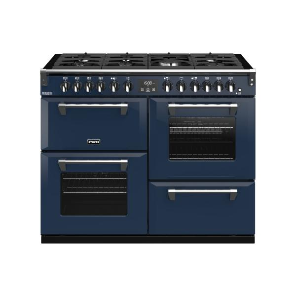 STOVES RICHMOND Deluxe S1100 DF Gas Midnight Blue/Chrom