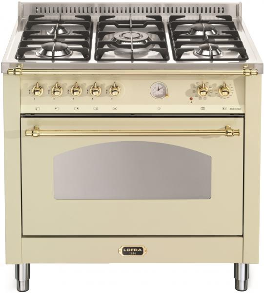 LOFRA - DOLCEVITA - SINGLE OVEN 90 cm - RBIG 96 MFT / CI - IVORY - Messing Finish