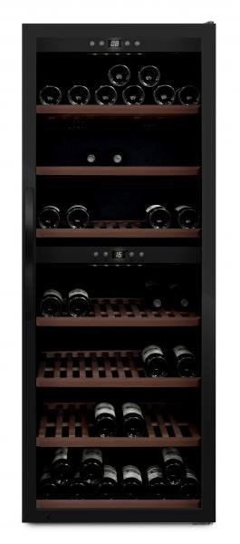 mQuvée Weinkühlgerät WineExpert 126 Fullglass Black