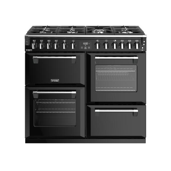STOVES RICHMOND Deluxe S1000 DF GAS Schwarz