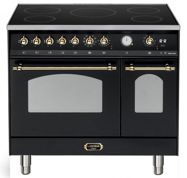 LOFRA - DOLCEVITA INDUKTION - DOUBLE OVEN 90cm - RNMD 96 MFTE/ 5IF - Black Messing Finish