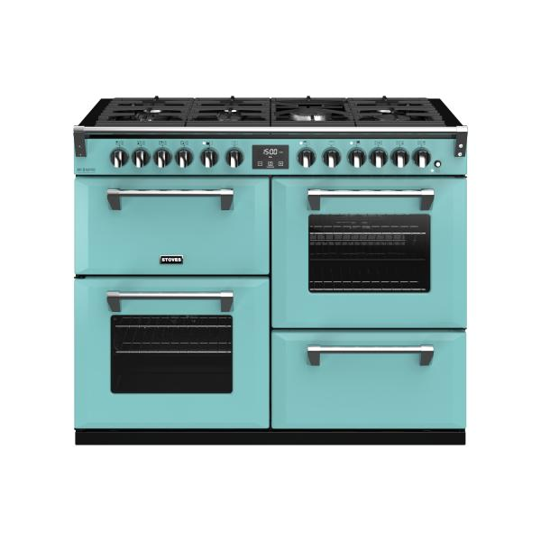 STOVES RICHMOND Deluxe S1100 Deluxe DF Gas Country Blue/Chrom