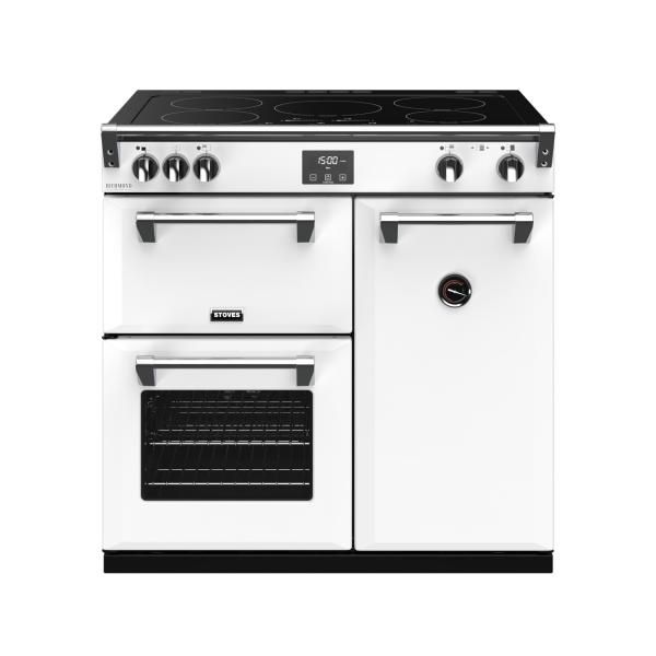 STOVES RICHMOND Deluxe S900 Ei Induktion Icy White/Chrom