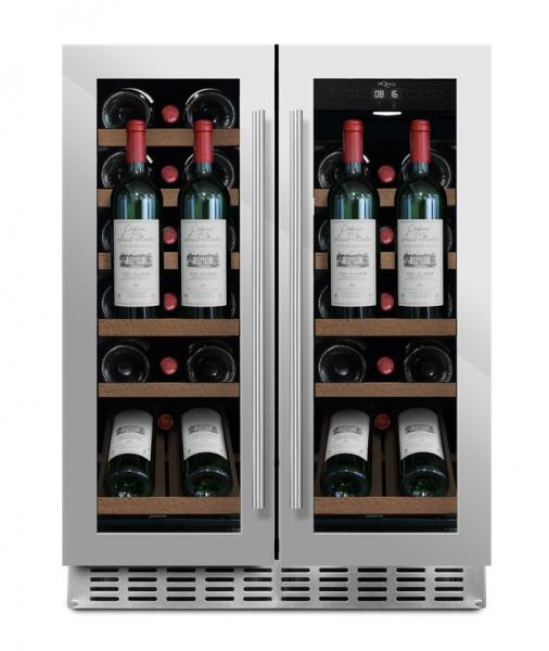 mQuvée Weinkühlgerät WineCave 60D2 Stainless