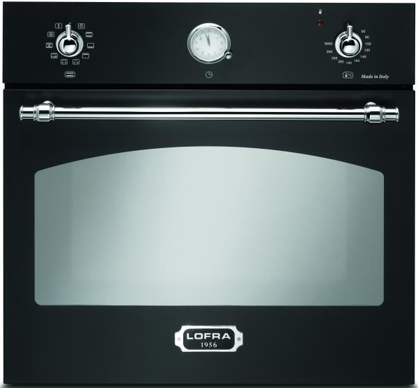 LOFRA - EINBAU BACKOFEN 60 cm - FRNM69EE/R - BLACK MATT - CHROME FINISH
