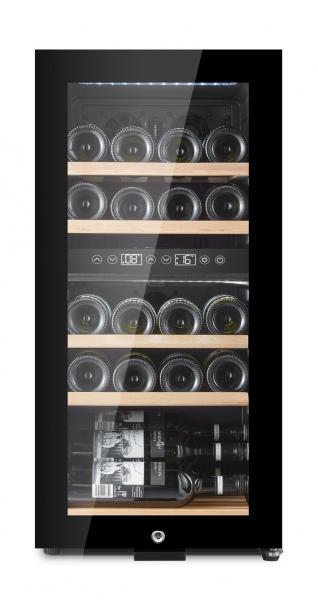 mQuvée Weinkühlgerät WineExpert 24 Fullglass Black