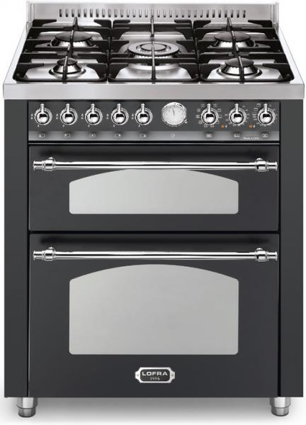 LOFRA - DOLCEVITA - DOUBLE OVEN 70 cm - RNMUD 76 MFTE / Ci - Black- Chrome Finish