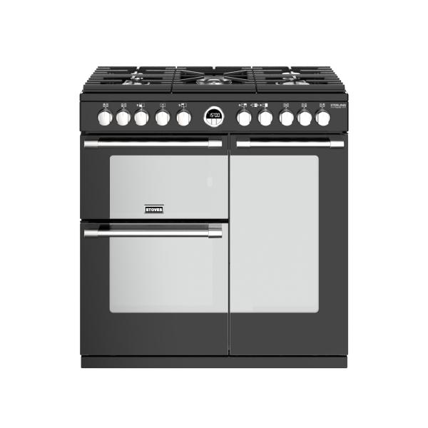 STOVES STERLING Deluxe S900 Schwarz Gas