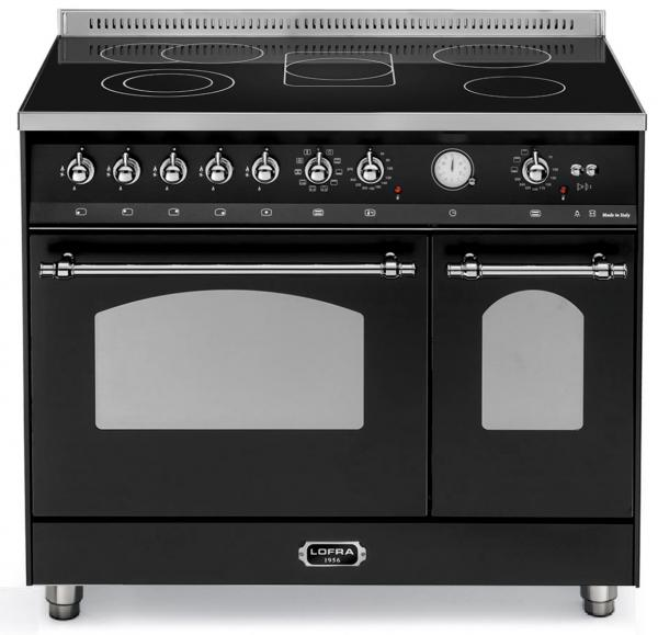 LOFRA - DOLCEVITA - GLASKERAMIK DOUBLE OVEN - 90 CM -- RNMD 96 MFTE/5GK - Black - Chrom Finish