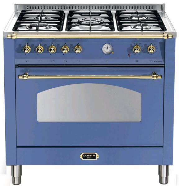 LOFRA - DOLCEVITA - SINGLE OVEN 90 cm - RLVG 96 MFT / CI - Lavandel Blue - Messing Finish