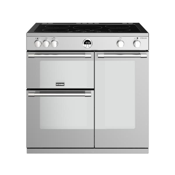 STOVES STERLING S900 Edelstahl Induktion