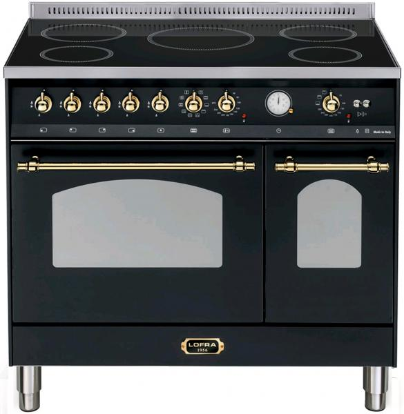LOFRA - DOLCEVITA - INDUKTION - DOUBLE OVEN 90 cm - RNMD 96 MFTE/ 5I - Black - Messing Finish