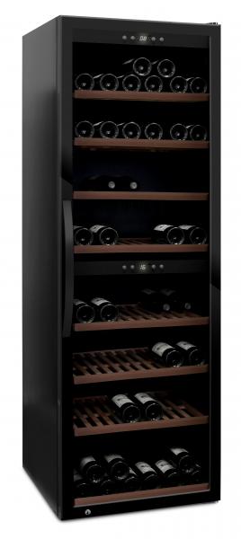 mQuvée Weinkühlgerät WineExpert 180 Fullglass Black