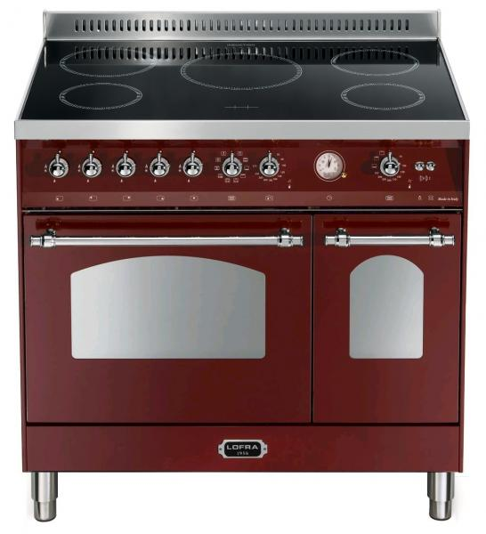 LOFRA - DOLCEVITA INDUKTION - DOUBLE OVEN 90 cm - RRD 96 MFTE/ 5I - Burgundy Chrome Finish